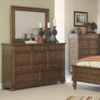 Peatman 11 Drawer Dresser with Mirror