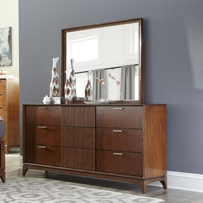 Caitlin 9 Drawer Dresser with Mirror