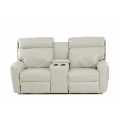 Chau Solid Power Reclining Loveseat with Console