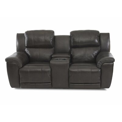 Uyen Power Reclining Foam Cushion Loveseat with Console