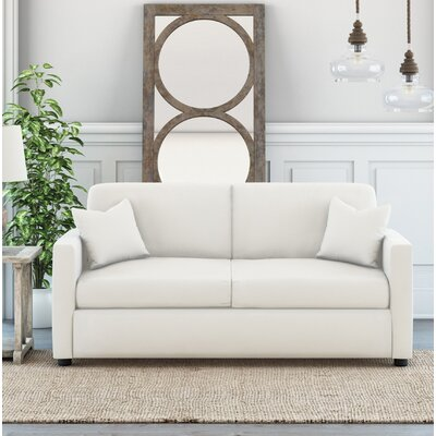 Denice Loveseat Upholstery: Classic Bleach