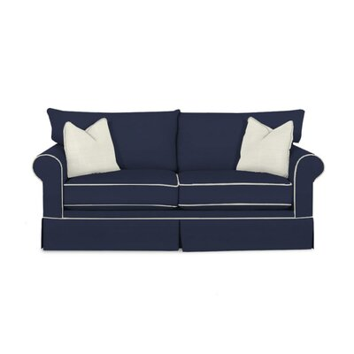 Hettie Sofa Upholstery: Spinnsol Navy, Piping: Classic Bleach