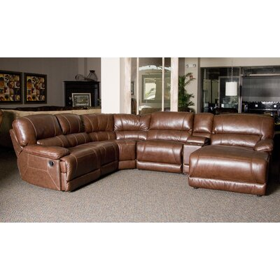 Klaussner Furniture Ragan 5 Piece Leather Sectional