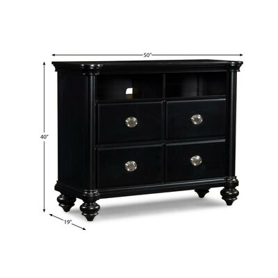 Brandy 4 Drawer Media Chest