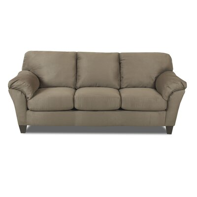 Bedroom Sofa Contemporary Taupe Microfiber Sectional