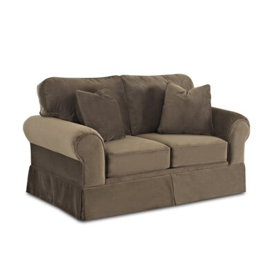 Greenough Loveseat Upholstery: Brown