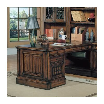 "Parker House Barcelona 32"" Peninsula Desk Base in Dark Red Walnut at Sears.com"