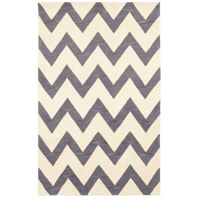 Fashion Gray & Ivory Area Rug Rug Size: 8 x 10