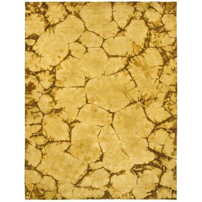 Tiedy Gold Rug Rug Size: 5 x 79