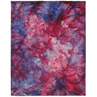 Tiedy Red Rug Rug Size: 5 x 79