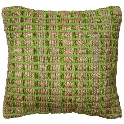 Natural Fiber Throw Pillow Color: Green