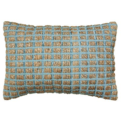 Natural Fiber Accent Cotton Throw Pillow Color: Blue