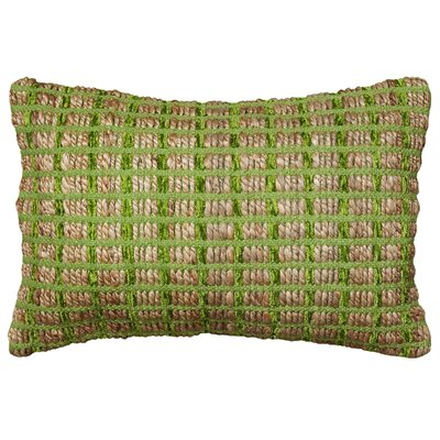 Natural Fiber Accent Cotton Throw Pillow Color: Green