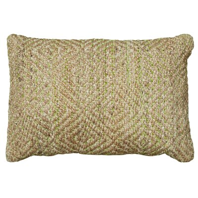 Coastal Natural Fiber Accent Lumbar Pillow Color: Green