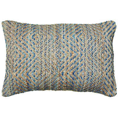 Coastal Natural Fiber Accent Lumbar Pillow Color: Blue