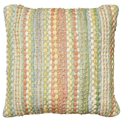 Braided Altair Decorative Cotton Throw Pillow Color: Jade Multi