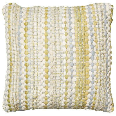 Braided Altair Decorative Cotton Throw Pillow Color: Yellow/Gray
