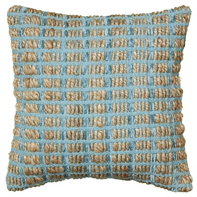 Natural Fiber Throw Pillow Color: Blue