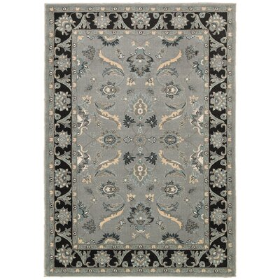 Adana Gray/Black Area Rug Rug Size: Runner 19 x 69