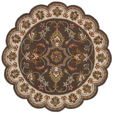 Dazzle Hand-Knotted Brown Area Rug