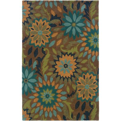 Toochin Hand-Hooked Taupe Area Rug Rug Size: 5 x 79