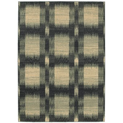 Antigua Green/Beige Area Rug Rug Size: 53 x 75