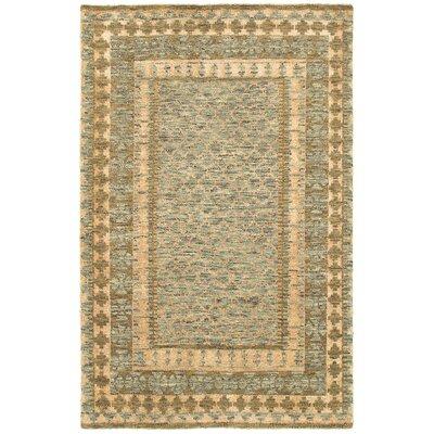 Oushak Gray/Khaki Area Rug Rug Size: 79 x 99