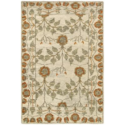 Rackers Ivory Natural Area Rug Rug Size: 92 x 126
