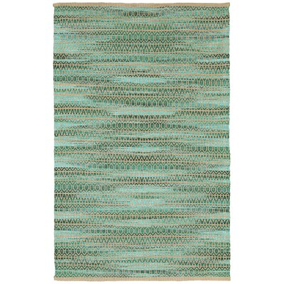 Natural Fiber Green Area Rug Rug Size: 92 x 126