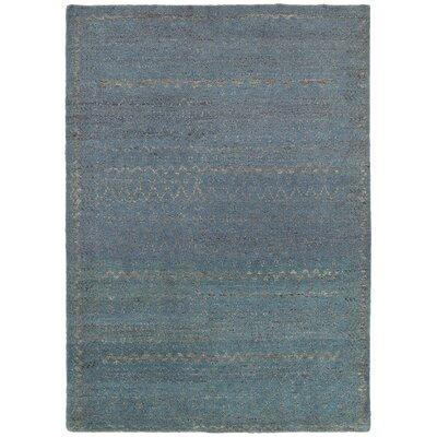 Oushak Blue Area Rug Rug Size: 53 x 75