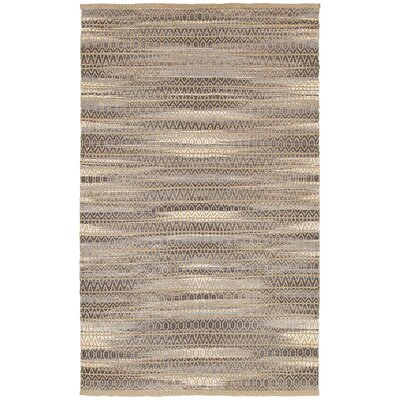 Natural Fiber Hand Woven Gray Area Rug Rug Size: 5'3