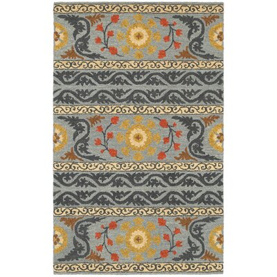 Dazzle Southwestern Hand-Woven Gray Area Rug Rug Size: 36 x 56