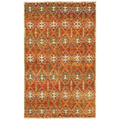 Rajani Rust Geometric Rug Rug Size: 79 x 99