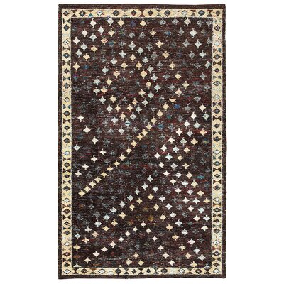 Rajani Hand-Knotted Silk Brown Area Rug Rug Size: Rectangle 53 x 75