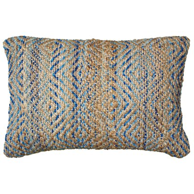 Coastal Natural Fiber Accent Lumbar Pillow Color: Light Blue