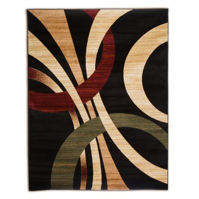 Beachmount Black Area Rug Rug Size: Runner 21 x 75