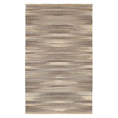 Natural Fiber Hand Woven Gray Area Rug Rug Size: 7'9