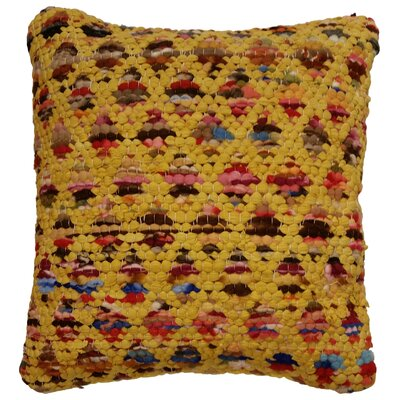 Pinkerton Throw Pillow Color: Yellow / Multi