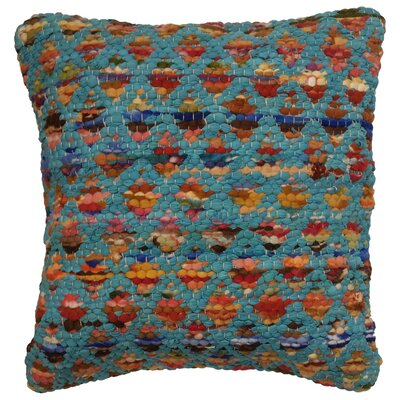 Pinkerton Throw Pillow Color: Turquoise / Multi