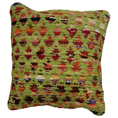 Harlequin Throw Pillow Color: Green / Multi