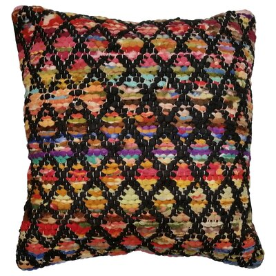 Harlequin Throw Pillow Color: Black / Multi