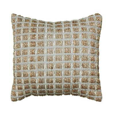 Natural Fiber Throw Pillow Color: Gray