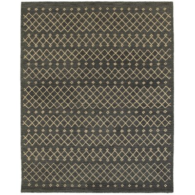 Tacoma Hand-crafted Gray Area Rug Rug Size: 89 x 119
