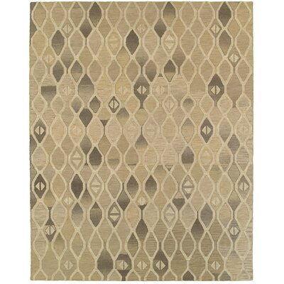 Ostro Hand-crafted Brown Area Rug Rug Size: 89 x 119