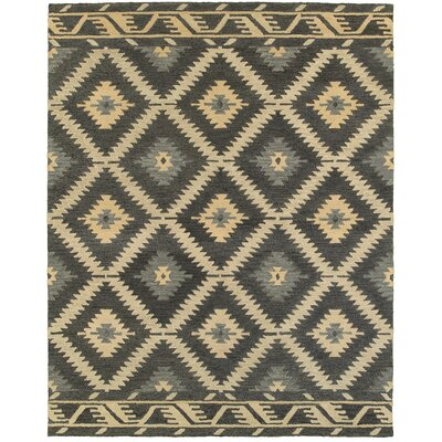 Missouri Hand-crafted Brown/Gray/Beige Area Rug Rug Size: 89 x 119