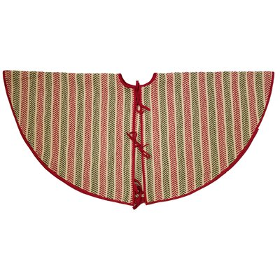 Frasure Chevron Christmas Tree Skirt