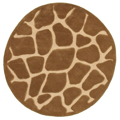 Fashion Natural Giraffe Area Rug Rug Size: Round 5