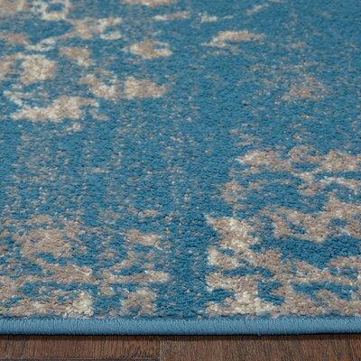 Fayme Blue/Beige Area Rug Rug Size: 52 x 72