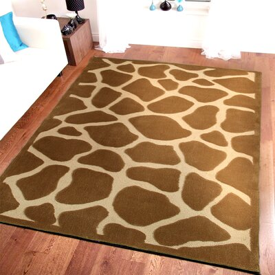 Fashion Natural Giraffe Area Rug Rug Size: Round 79