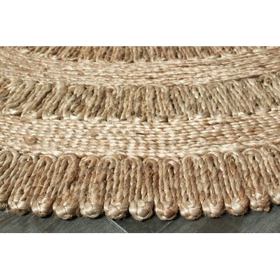 Parkwoods Jute Natural Area Rug Rug Size: Round 8
